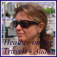 Heather on her travels Podcasts show