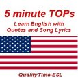 5-minute TOPs - Songs and Quotes to Learn English show