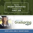 Gradspring Podcast | Tips for recent graduates to land your first Job show