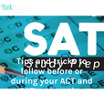 Tips and tricks to follow before or during your ACT and SAT preparation show