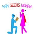 Man Geeks Woman show