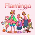 Flamingo Family show
